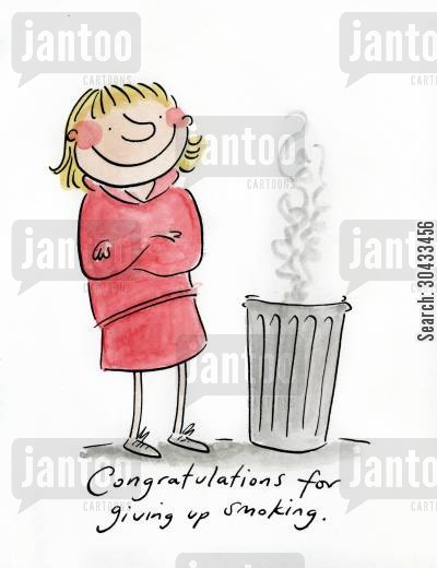 health risks cartoon humor: Congratulations for giving up smoking