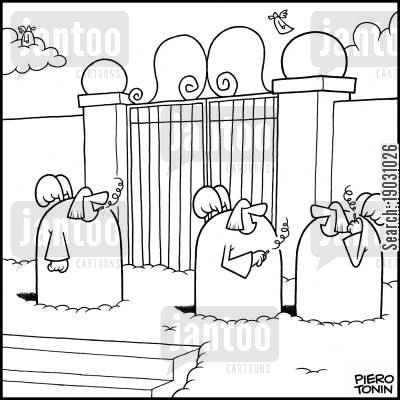 hereafter cartoon humor: Angels smoke outside the Pearly Gates