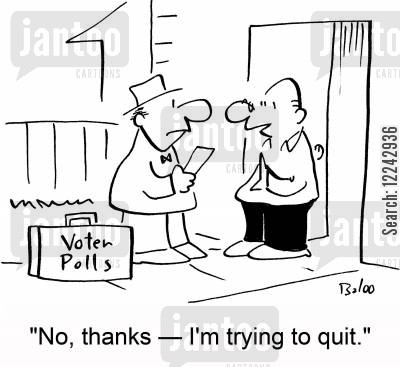 trying to quit cartoon humor: 'No, thanks -- I'm trying to quit.'