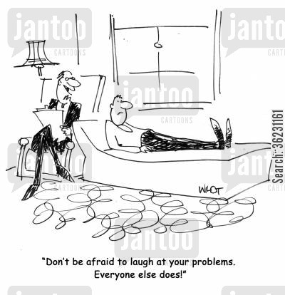 laugh at your problems cartoon humor: Don't be afraid to laugh at your problems. Everyone else does!