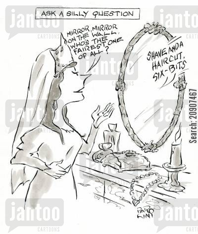 magic mirror cartoon humor: Ask A Silly Question.