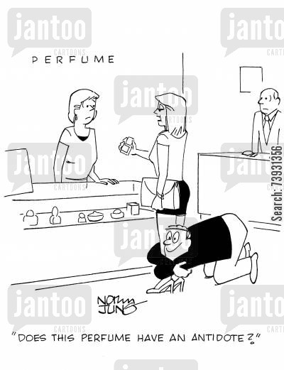 allure cartoon humor: 'Does this perfume have an antidote?'