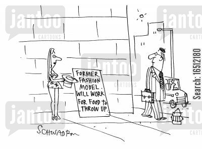 bmi cartoon humor: Former fashion model