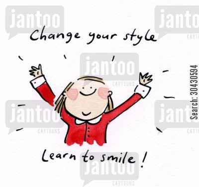 cheering cartoon humor: Change your style, learn to smile!
