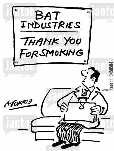 appreciating cartoon humor: Thank you for smoking