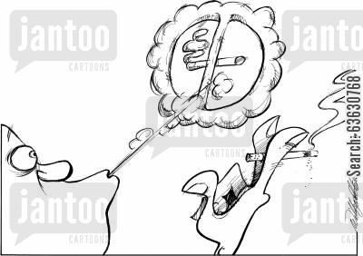 giving up smoking cartoon humor: Smoke ban.