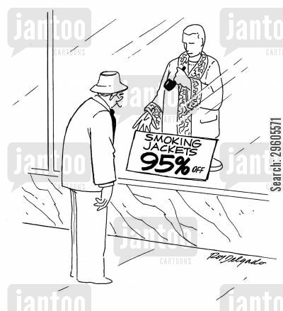 smoking jacket cartoon humor: Smoking jackets - 95 off.