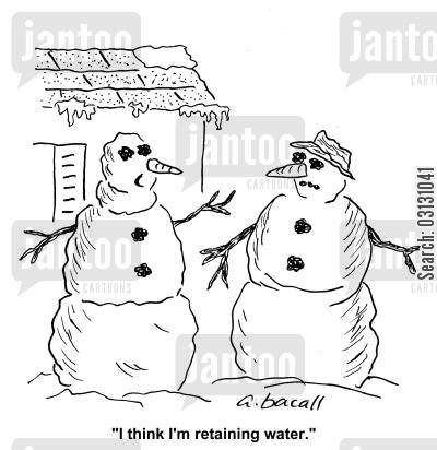 fat roll cartoon humor: I think I'm retaining water.