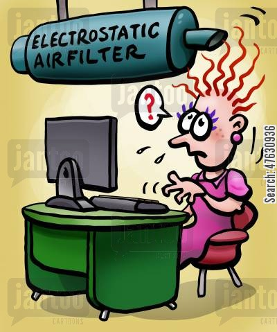 static electricity cartoon humor: Electrostatic Air Filter