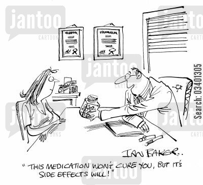 diseased cartoon humor: 'The medication wont cure you, but it's side effects will!'