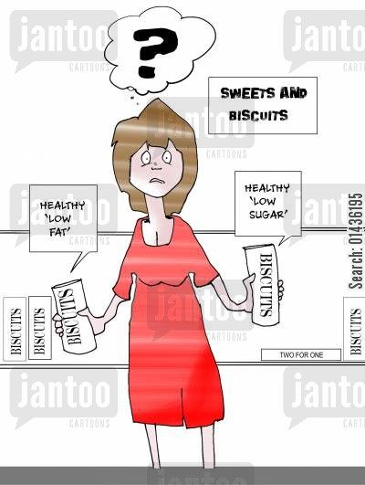 fats cartoon humor: Diets: Sweets and Biscuits.