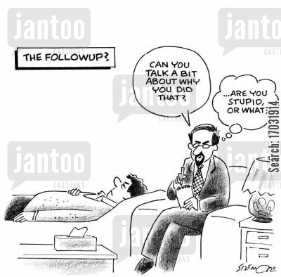 private thoughts cartoon humor: The Followup?