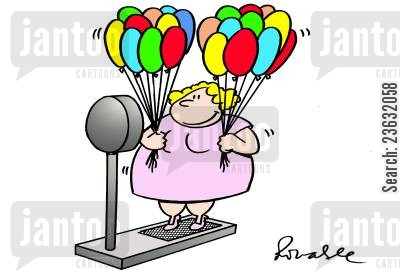 fat woman cartoon humor: Weight Solution.