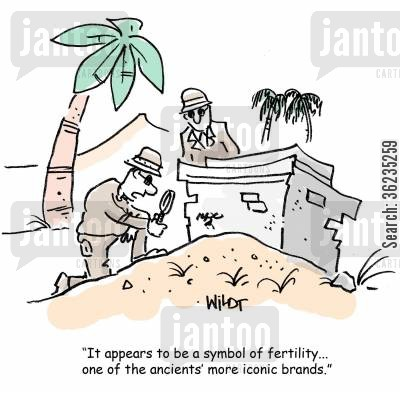 fertile cartoon humor: It appears to be a symbol of fertility...one of the ancients' more iconic brands...