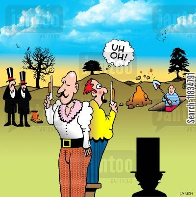 grave digger cartoon humor: 'Uh oh.'