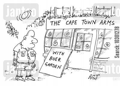 boers cartoon humor: The Cape Town Arms