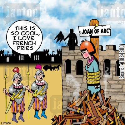 pow cartoon humor: 'This is so cool, I love French fries.'