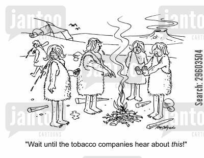discovers cartoon humor: 'Wait until the tobacco companies hear about this!'