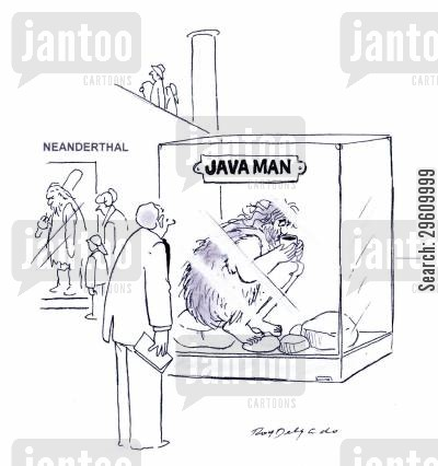 programmers cartoon humor: Java Man.
