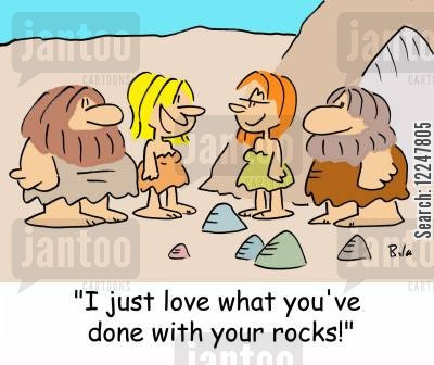 interior decorating cartoon humor: 'I just love what you've done with your rocks!'