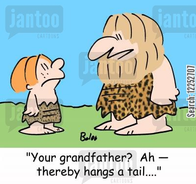 thereby hangs a tale cartoon humor: 'Your grandfather? Ah -- thereby hangs a tail....'
