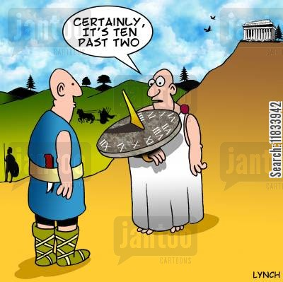 sundials cartoon humor: Sundial Time
