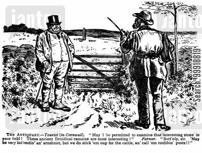 rural england cartoon humor: The Antiquary