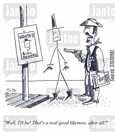 ranger cartoon humor: 'Well, I'll be That's a real good likeness, after all'