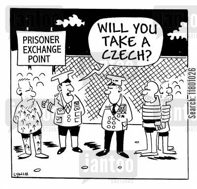 czechs cartoon humor: Will you take a czech?