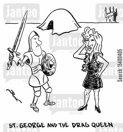 drag queens cartoon humor: Saint George and the Drag Queen