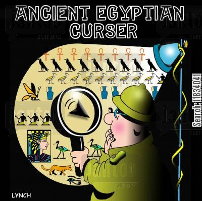 hieroglyphic cartoon humor: Ancient Egyptian Curser