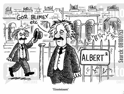 einsteiners cartoon humor: 'Einsteiners.'