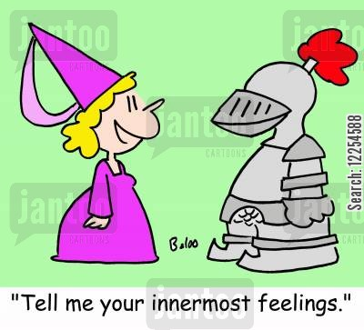 innermost cartoon humor: 'Tell me your innermost feelings!'