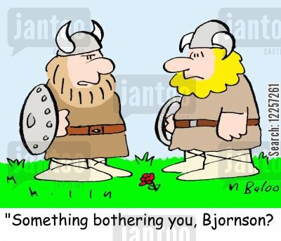 feeling low cartoon humor: 'Something bothering you, Bjornson?'