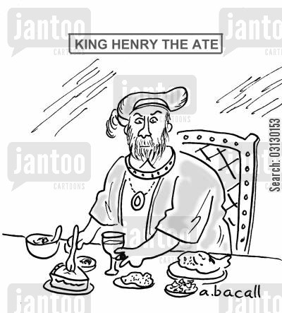 henry the 8th cartoon humor: King Henry.