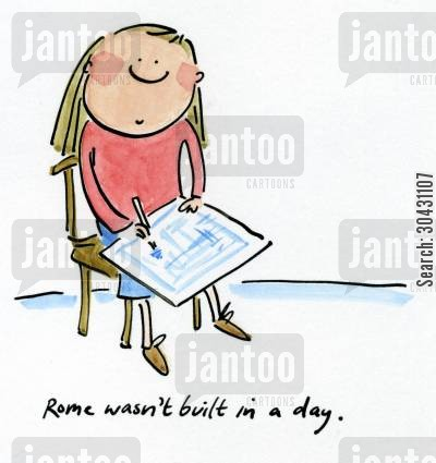 history homework cartoon humor: Rome wasn't built in a day.
