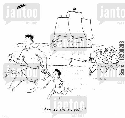 aborigine cartoon humor: Are we theirs yet ?