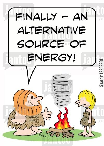 camp fires cartoon humor: 'Finally - an alternative source of energy!'