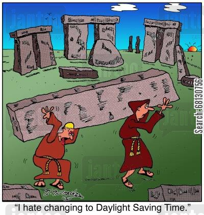 daylight savings cartoon humor: I hate changing TO Daylight Saving Time.