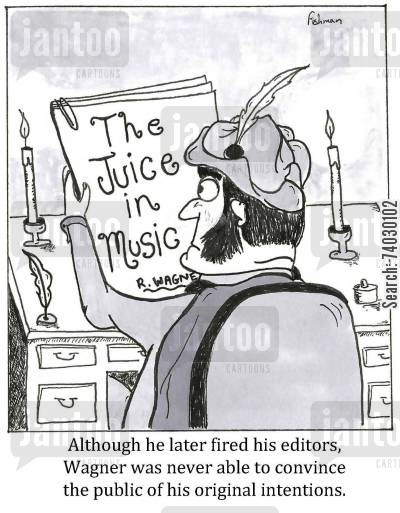 anti-semite cartoon humor: Although he later fired his editors, Wagner was never able to convince the public of his original intentions.