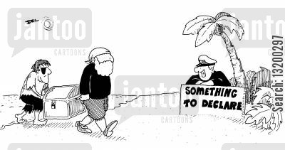 capital gain cartoon humor: Something to Declare