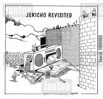 revisited cartoon humor: Jericho Revisited