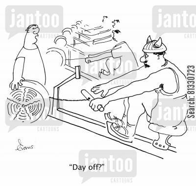 rowing clubs cartoon humor: 'Day off?'