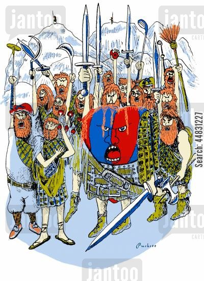 patriotic cartoon humor: William Wallace.