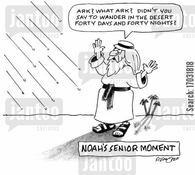 senior moment cartoon humor: Noah's Senior Moment