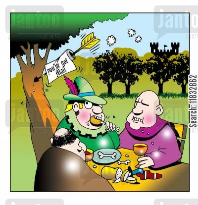 sheriff of nottingham cartoon humor: You've got mail...