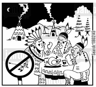 non-smoking section cartoon humor: No smoking section at Indian reservation.