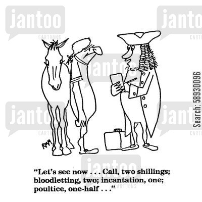 call out cartoon humor: 'Let's see now...Call, two shillings;...