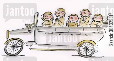 motors cartoon humor: Charabanc.