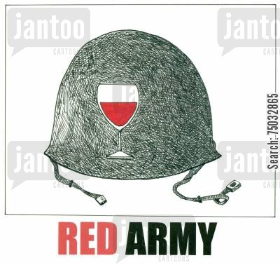 socialist cartoon humor: Red Army